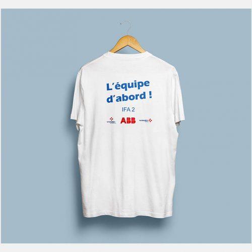 t-shirt omexom : l'équipe d'abord !